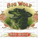 Vintage Big Wolf Digital Cigar Art Ephemera Scrapbooking Altered Art