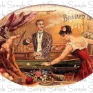 Vintage Billiard Digital Cigar Art Ephemera Scrapbooking Altered Art