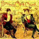 Bloomer Club Digital Vintage Cigar Art Ephemera Scrapbooking Altered Art