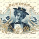 Blue Pearl Digital Vintage Cigar Art Ephemera Scrapbooking Altered Art