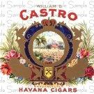 Castro Digital Vintage Cigar Art Ephemera Scrapbooking Altered Art