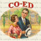 Co-Ed Digital Vintage Cigar Art Ephemera Scrapbooking Altered Art