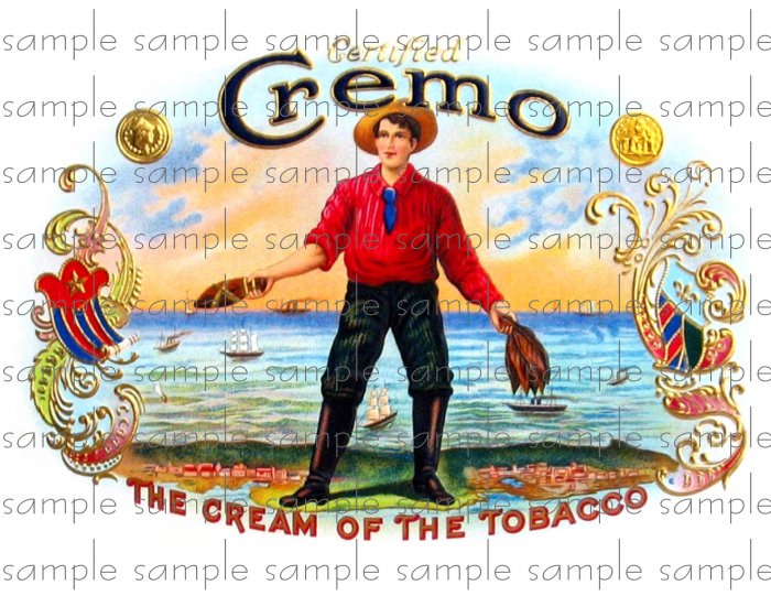 Cremo Digital Vintage Cigar Art Ephemera Scrapbooking Altered Art