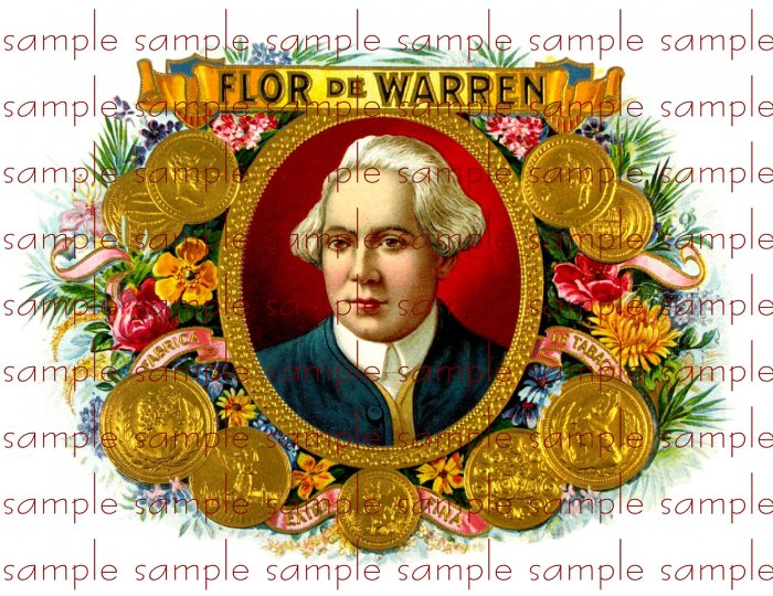 Flor De Warren Digital Vintage Cigar Art Ephemera Scrapbooking Altered Art