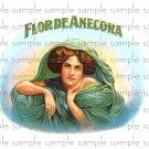 Florade Anecora Digital Vintage Cigar Box Art Ephemera Scrapbooking Altered Art