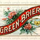 Green Brier Vintage Digital Cigar Box Art Ephemera Scrapbooking Altered Art