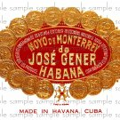 Hoyo de Monterrey Vintage Digital Cigar Box Art Ephemera Scrapbooking Altered Art
