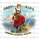 Lady Alps Vintage Digital Cigar Box Art Ephemera Scrapbooking Altered Art Decoupage
