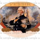 Yes Sir Vintage Digital Cigar Box Art Ephemera Scrapbooking Altered Art Decoupage