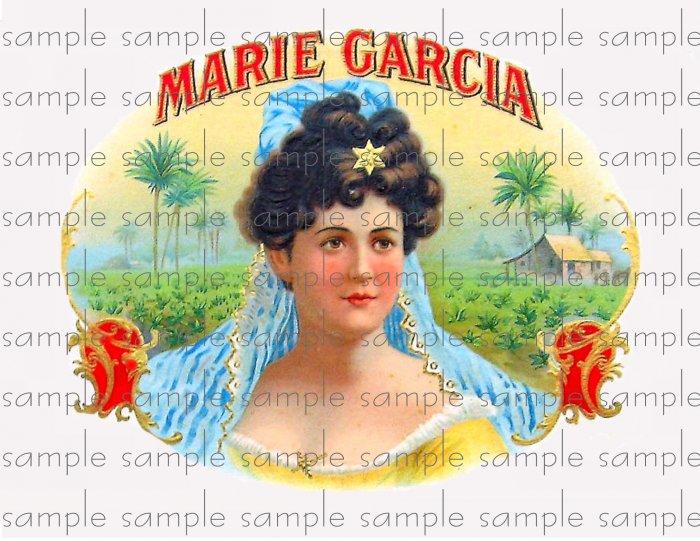 Marie Garcia Vintage Digital Cigar Box Art Ephemera Scrapbooking Altered Art Decoupage