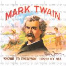 Mark Twain Vintage Digital Cigar Box Art Ephemera Scrapbooking Altered Art Decoupage