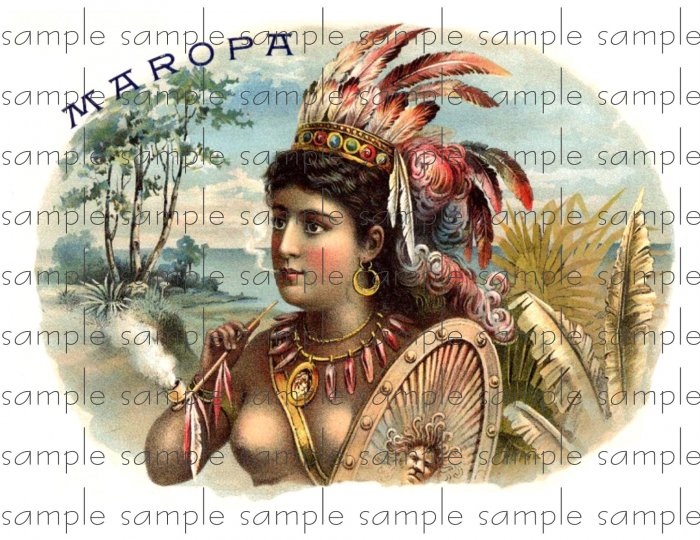 Maropa Vintage Digital Cigar Box Art Ephemera Scrapbooking Altered Art Decoupage