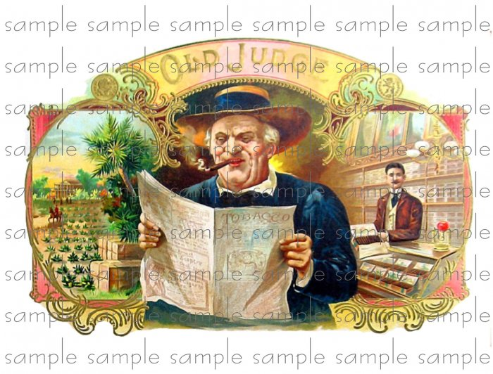 Old Judge Vintage Digital Cigar Box Art Ephemera Scrapbooking Altered Art Decoupage