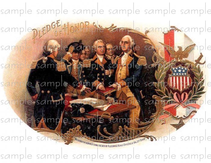 Pledge of Honor Vintage Digital Cigar Box Art Ephemera Scrapbooking Altered Art Decoupage