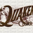Quaker Vintage Digital Cigar Box Art Ephemera Scrapbooking Altered Art Decoupage