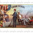 Union Cigars Vintage Digital Cigar Box Art Ephemera Scrapbooking Altered Art Decoupage