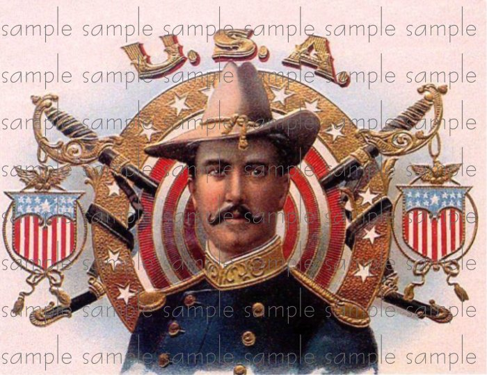 USA Vintage Digital Cigar Box Art Ephemera Scrapbooking Altered Art Decoupage