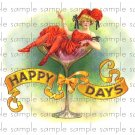 Happy Days Digital Cigar Box Art Ephemera Scrapbooking Altered Art Decoupage
