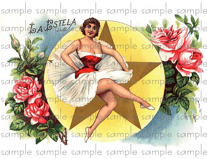 La Estela Digital Cigar Box Art Ephemera Scrapbooking Altered Art Decoupage