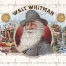 Walt Whitman Digital Cigar Box Art Ephemera Scrapbooking Altered Art Decoupage