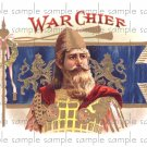 War Chief Digital Cigar Box Art Ephemera Scrapbooking Altered Art Decoupage