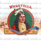Washtella Cigar Box Art Ephemera Scrapbooking Altered Art Decoupage