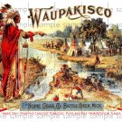 Waupakisco Cigar Box Art Ephemera Scrapbooking Altered Art Decoupage