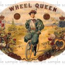 Wheel Queen Cigar Box Art Ephemera Scrapbooking Altered Art Decoupage