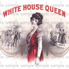 White House Queen Cigar Box Art Ephemera Scrapbooking Altered Art Decoupage
