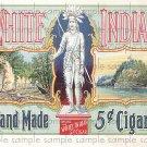 White Indian Cigar Box Art Ephemera Scrapbooking Altered Art Decoupage