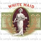 White Maid Cigar Box Art Ephemera Scrapbooking Altered Art Decoupage