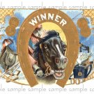 Winner Cigar Box Art Ephemera Scrapbooking Altered Art Decoupage