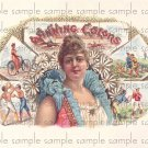 Winning Colors Cigar Box Art Ephemera Scrapbooking Altered Art Decoupage