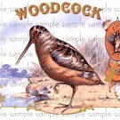 Woodcock Vintage Digital Cigar Box Art Ephemera Scrapbooking Altered Art Decoupage