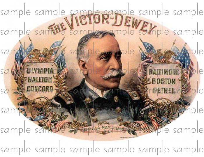 Victor Dewey Cigar Box Art Ephemera Scrapbooking Altered Art Decoupage