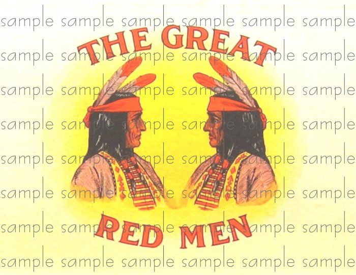 Great Red Men Cigar Box Art Ephemera Scrapbooking Altered Art Decoupage