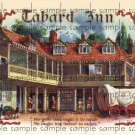 Tabard Inn Cigar Box Art Ephemera Scrapbooking Altered Art Decoupage