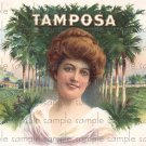 Tamposa Cigar Box Art Ephemera Scrapbooking Altered Art Decoupage