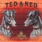 Ted and Ned Cigar Box Art Ephemera Scrapbooking Altered Art Decoupage