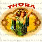 Thora Cigar Box Art Ephemera Scrapbooking Altered Art Decoupage