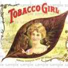 Tobacco girl Cigar Box Art Ephemera Scrapbooking Altered Art Decoupage