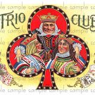 Trio Club Cigar Box Art Ephemera Scrapbooking Altered Art Decoupage