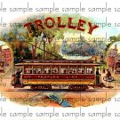 Trolley Cigar Box Art Ephemera Scrapbooking Altered Art Decoupage