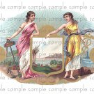 Twin Beauties Cigar Box Art Ephemera Scrapbooking Altered Art Decoupage