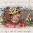 Sailing Cigar Box Art Ephemera Scrapbooking Altered Art Decoupage