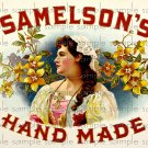 Samelsons Cigar Box Art Ephemera Scrapbooking Altered Art Decoupage