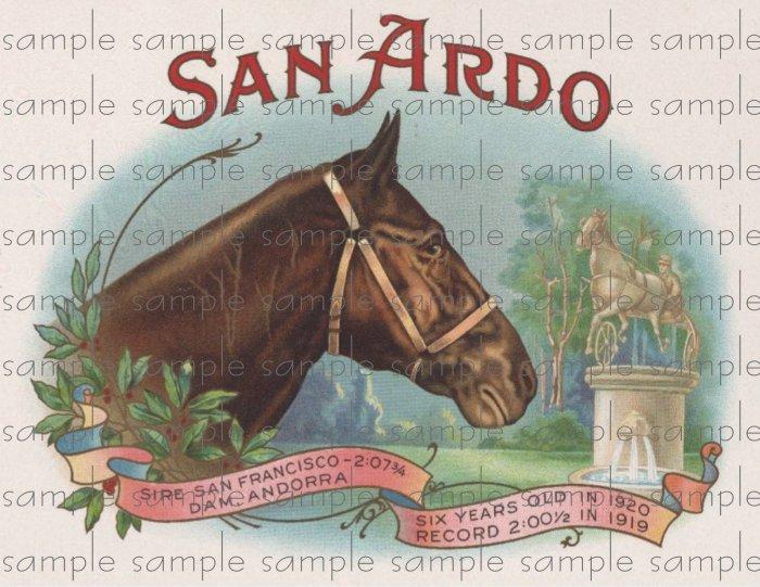 San Ardo Cigar Box Art Ephemera Scrapbooking Altered Art Decoupage