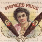 Smokers Pride Vintage Digital Cigar Box Art Ephemera Scrapbooking Altered Art Decoupage