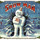 Snow Man Vintage Digital Cigar Box Art Ephemera Scrapbooking Altered Art Decoupage