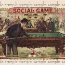 Social Game Vintage Digital Cigar Box Art Ephemera Scrapbooking Altered Art Decoupage